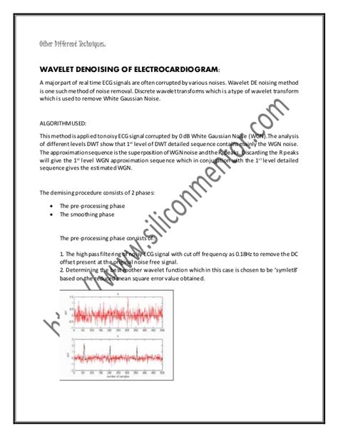 thesis abstract tips a case study on various ecg denoising techniques phd