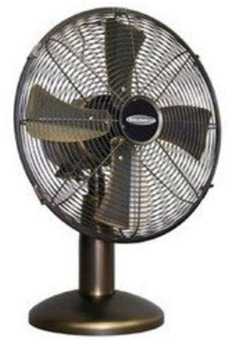 soleus air table fan soleus air ft13044 metal table fan bronze with gold