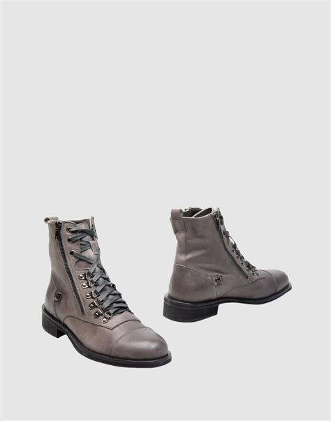 rock and republic mens boots rock republic ankle boots in gray for grey lyst