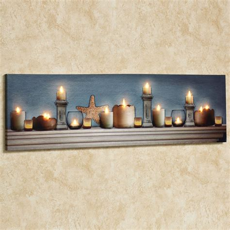 coastal charm led lighted canvas wall art