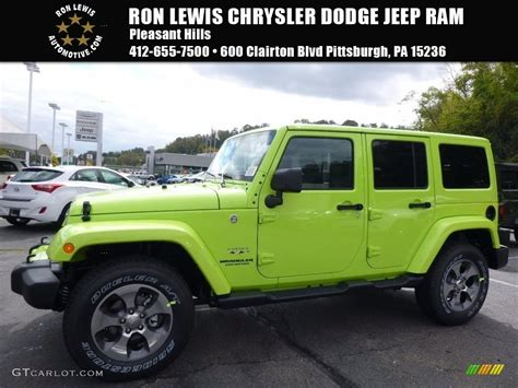 jeep sahara 2017 colors 2017 hypergreen jeep wrangler unlimited sahara 4x4