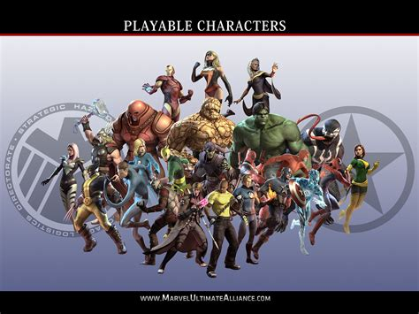 official marvel ultimate alliance 2 character list marvel ultimate alliance 2 wallpaper wallpapersafari