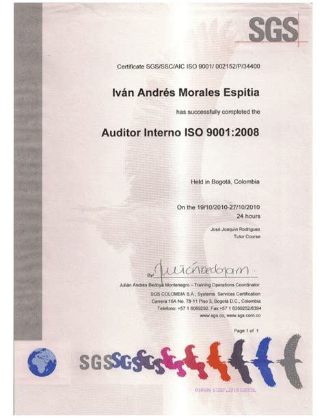 auditor interno iso 9001 auditor interno iso 9001 2008 sgs ssc aic iso 9001