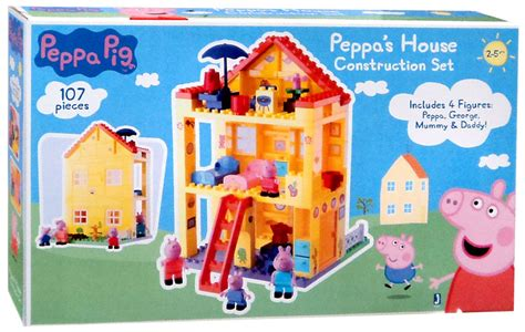 peppa pig the new house peppa s house construction set peppa pig jazwares