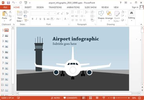 Animated Airport Powerpoint Templates Airport Ppt Template Free