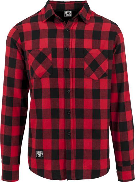camisa a cuadros roja camisa de cuadros roja y negra never i can 180 t