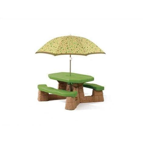 step2 naturally playful picnic table with umbrella home