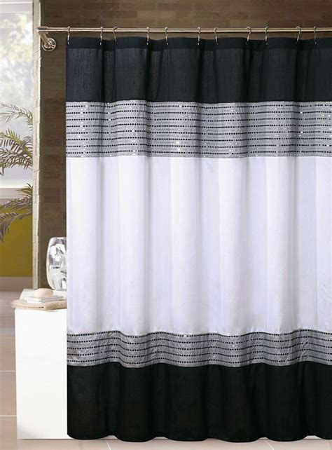 curtain amusing black and white shower curtain shower