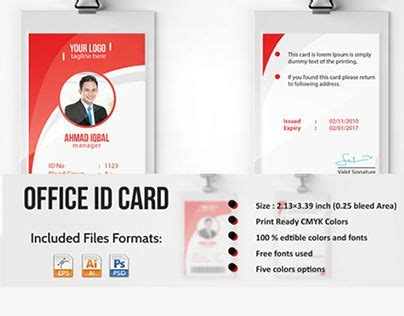 employee id card template free behance 20 best id card idea images on