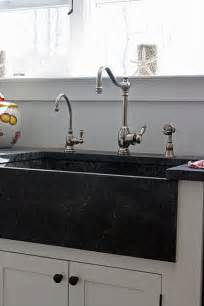 Black Farm Sinks For Kitchens Black Soapstone Farm Sink Design Kitchen Space Decor Pintere