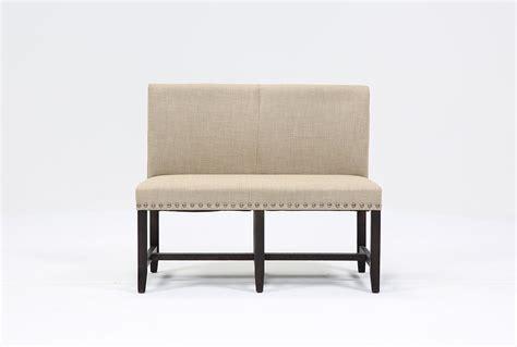 high back upholstered bench jaxon upholstered high back bench living spaces