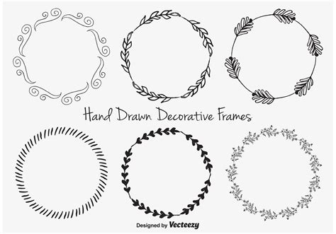 how to create a vector decorative frame in illustrator hand drawn decorative frames download free vector art