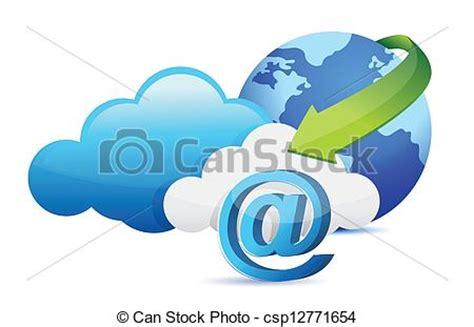 imagenes vectoriales informatica clipart vectorial de mudanza concepto se 241 al nube