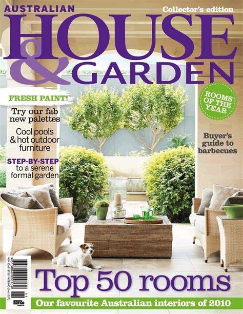 house magazine top 50 rooms of 2010 featured in november issue of australian house garden