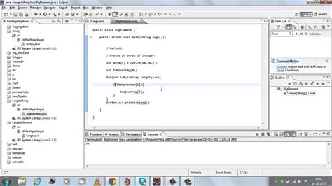 Max Search Largest Element Of An Array In Java