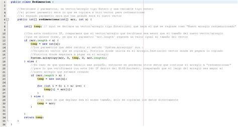 vector tutorial in java tutorial java redimencion de un vector array taringa
