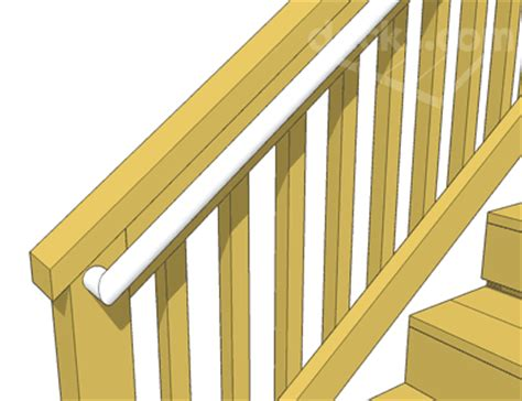 banister railing height decks com deck stair handrails