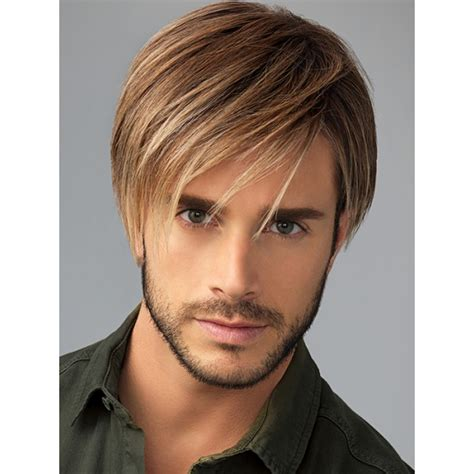 mens hairstyles extensions chiseled by him hand tied cap lace front monofilament