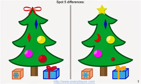 christmas treed with a difference 6 spot the difference tree pictures