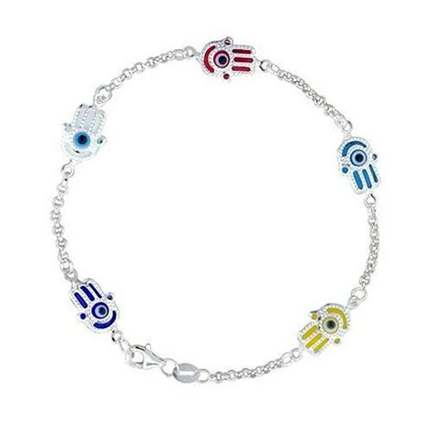 where to buy sterling silver to make jewelry turkish evil eye jewelry sterling silver hamsa bracelet 7
