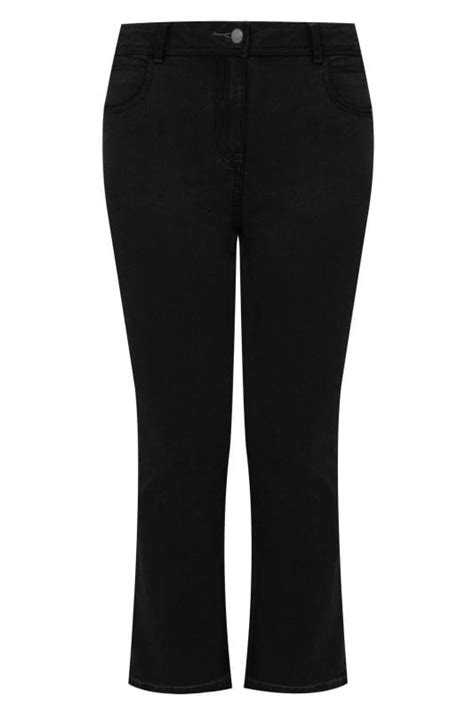 Black Bootcut 5 Pocket Jeans Plus Size 16 to 32