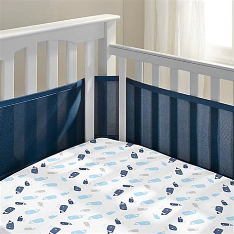 Crib Mattress Liner Breathablebaby 174 Wick Crib Sheet In Blue Whale Www Bedbathandbeyond