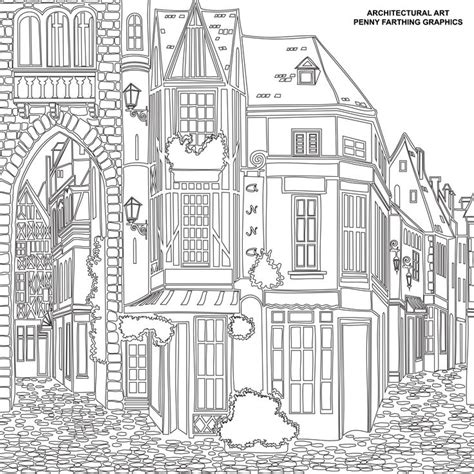 coloring pages for adults architecture top 88 building coloring pages free coloring page
