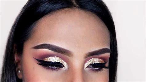 Eyeshadow No Glitter glitter cut crease eyeshadow tutorial