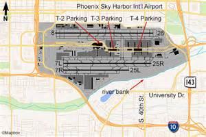 Phoenix Sky Harbor Map by Phoenix Airport Flightline Aviation Media Planespotting