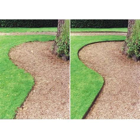 This Is A Good Picture Of The Difference Between No Hidden Garden Path Edging Ideas