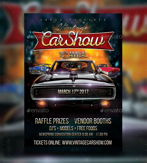 19 Car Show Flyer Free Premium Psd Ai Vector Eps Downloads Show Templates