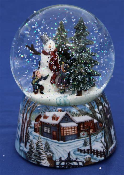 musical snow globe snowman ebay
