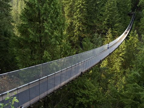 swinging bridge vancouver capilano suspension bridge north vancouver british