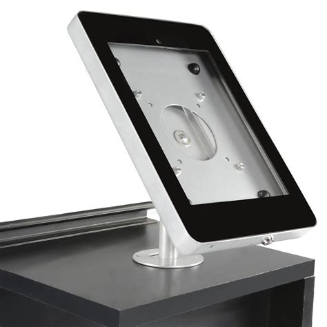 ipad air cabinet mount fixed mount ipad holders silver counter stand w black cover