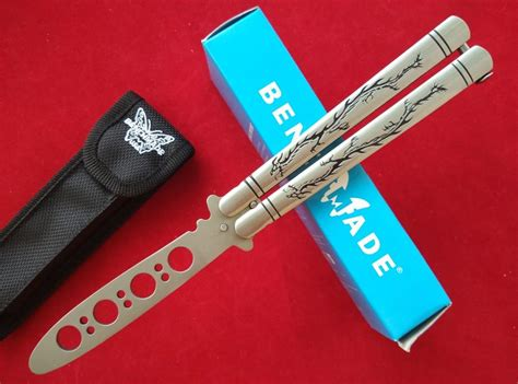 benchmade balisong trainer bench made 42 bm40 balisong butterfly knife engraved