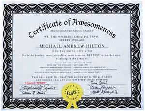 certificate of awesomeness template pics photos certificates of awesomeness