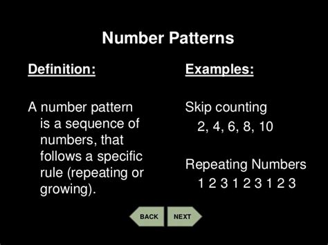 pattern definition algebra patterns number and geometric