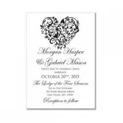 invitation card template word wedding invitation card template word wblqual
