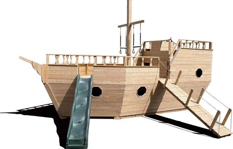 wooden playground equipment wooden play yard structures - Wooden Boat Playground Plans