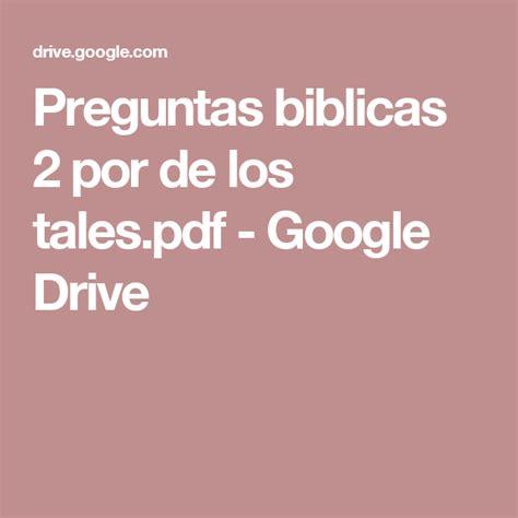 preguntas biblicas pdf preguntas biblicas 2 por de los tales pdf google drive
