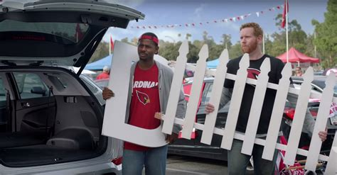 video funny fence commercial begins hyundais nfl campaign  news wheel