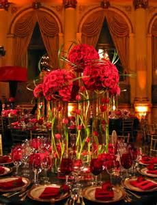 Red Flower Centerpieces - fall wedding centerpiece ideas on pinterest party