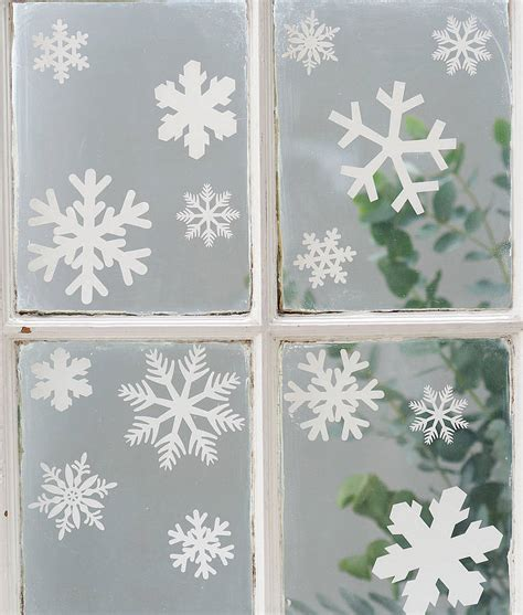 set of 20 snowflake vinyl stickers by nutmeg