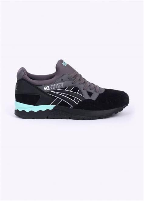 Sepatu Casual Running Asics Gel Lyte V Black Speckle Premium asics gel lyte v casual trainers black