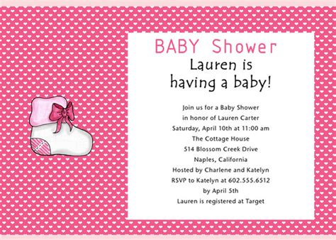 baby shower invitation wording for june 2012 baby shower invitations cheap baby shower