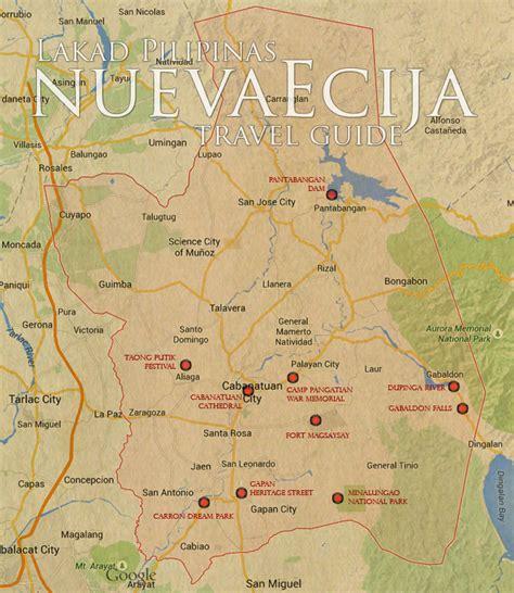 san jose nueva ecija map maps update 700560 san jose tourist attractions map