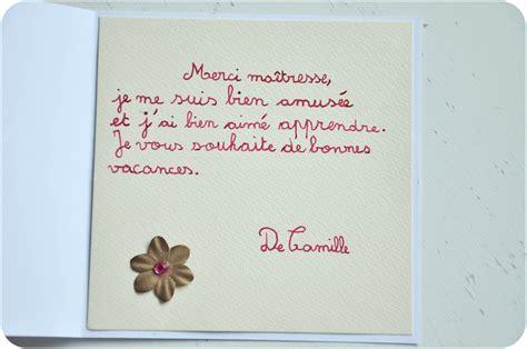 Lettre De Remerciement Maitresse Ecole Cadeau Pour La Ma 238 Tresse Diy Carte De Remerciement Not