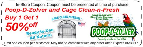 bird paradise savings coupon page