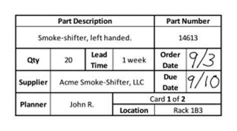 kanban replenishment card template kanban definition plus get a free 11 page pdf