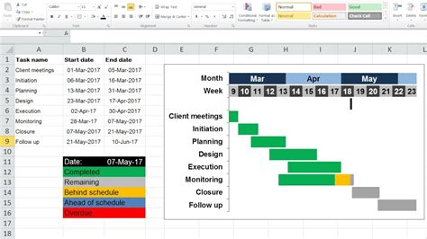 how to create a progress gantt chart in excel 2010 youtube truexl progress gantt chart youtube